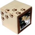 EterniBox B - Cercueil en bois biodégradable pour inhumer chat, petit chien, rongeur, NAC